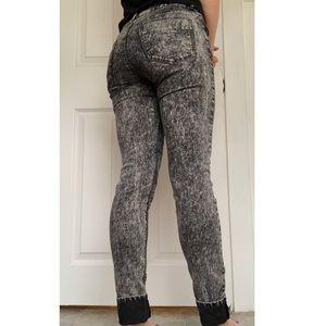 Divided Pants - Acid Wash Jeans